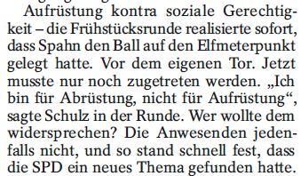 Abrüstung SPD neues Thema