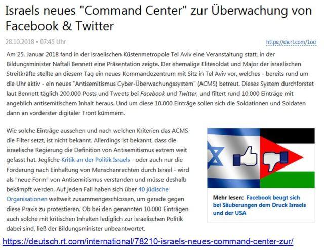 Israel Command Center