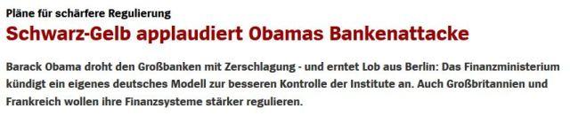 Obama will Banken reformieren