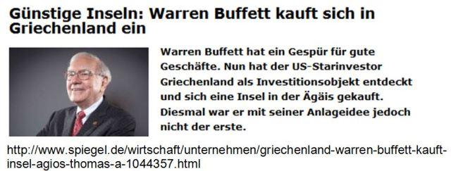 Warren Buffet Inselkauf