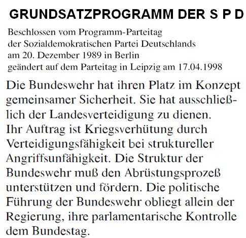 Grundsatzprogramm der SPD 1989