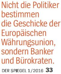 Banker und Politiker EZB