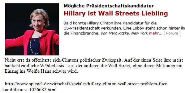 Clinton Wall Street