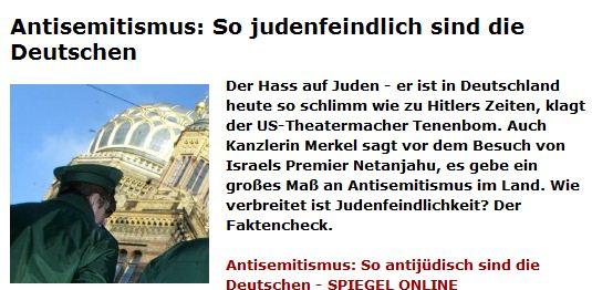Judenfeindlich SPON