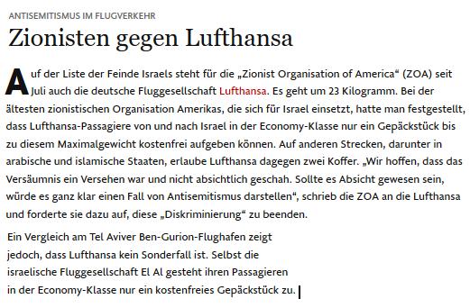 Lufthansa antisemitisch