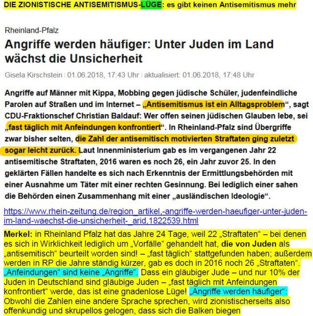 Antisemitische Straftaten RP