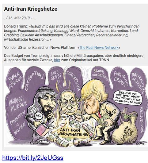 Anti-Iran Kriegshetze