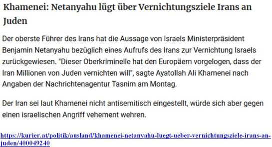 Iran Holocaust II Netanjahu lügt Antizionismus