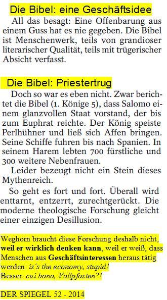 Bibel = Geschäftsidee