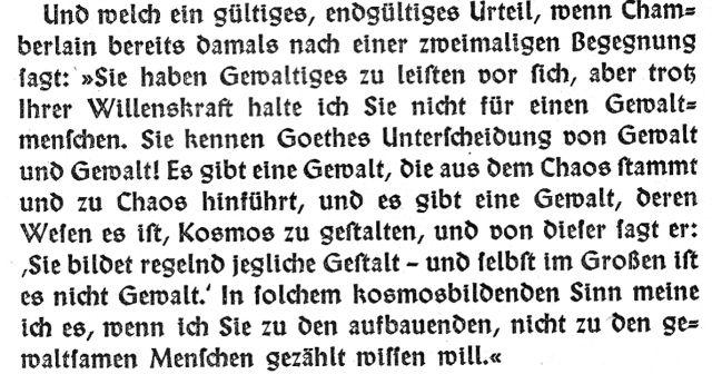 Mystiker Chamberlain über den Mystiker Hitler