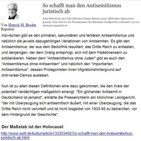 Broder Antisemitismusdefinitionen