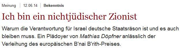 Döpfner Zionist