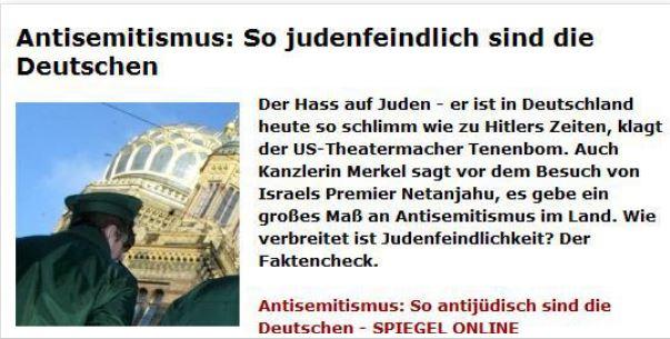 Tenenbom Deutsche judenfeindlich