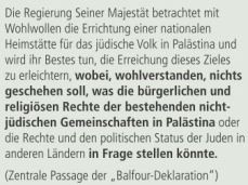 Balfour Deklaration 1917