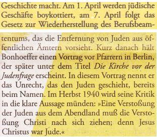 Bonhoeffer Judentum Jude