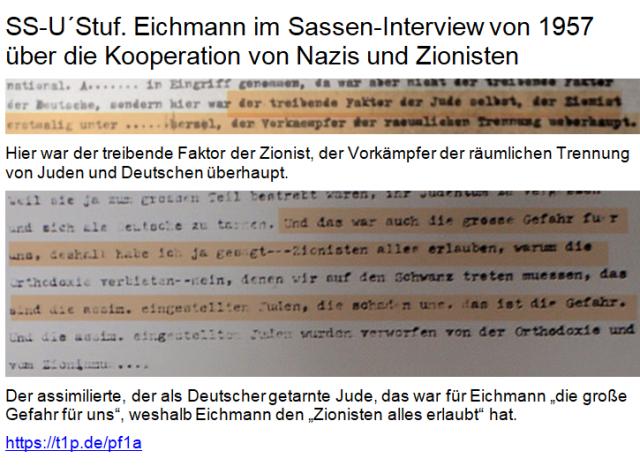 Eichmann Förderer Zionisten Sassen-Interview