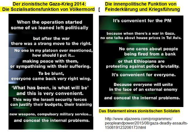Gazakrieg Sozialisationsfunktion