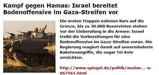 Gazakriegsvorbereitung 16. 11. 2012