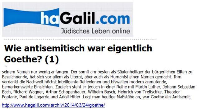 Goethe Antisemit