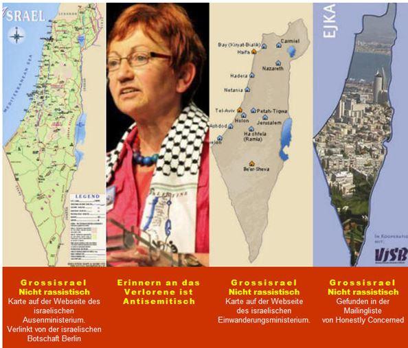 Groß Israel Landkarten