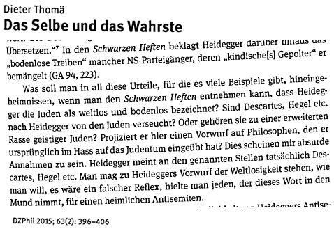 Heidegger Thomä
