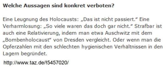 Holocaustleugnung §130 StGB