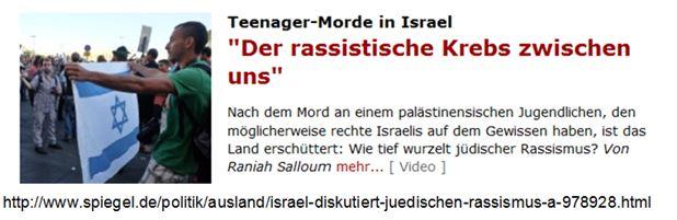 Israel rassistischer Krebs