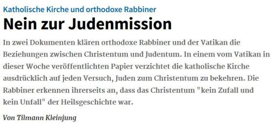 Judenmission Katholische Kirche