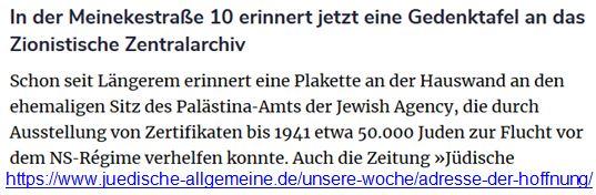 Lösung der Judenfrage in Berlin Meinekestraße