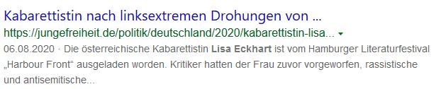 Lisa Eckhart antisemitisch