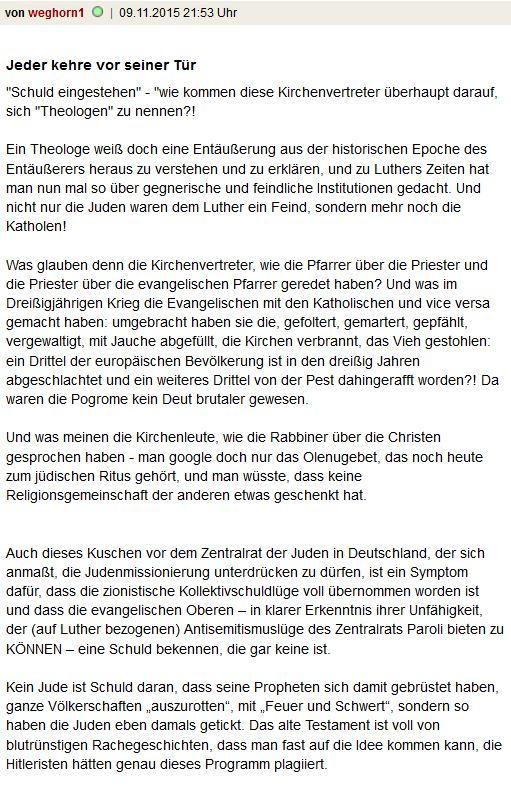Luther Schuldgefühle EKD