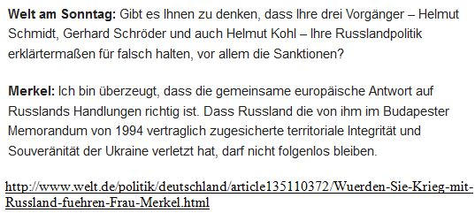 Merkel Budapester Memorandum
