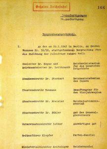 Wannseekonferenz-Protokoll
