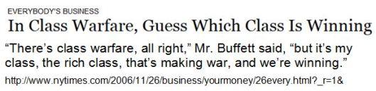 Warren Buffet Klassenkrieg