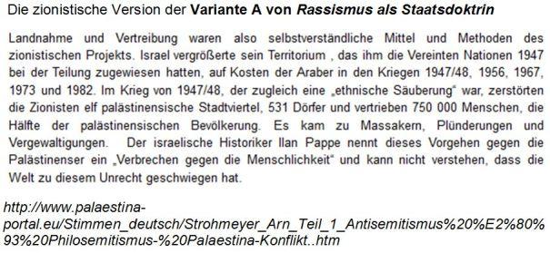 Zionismus Variante A