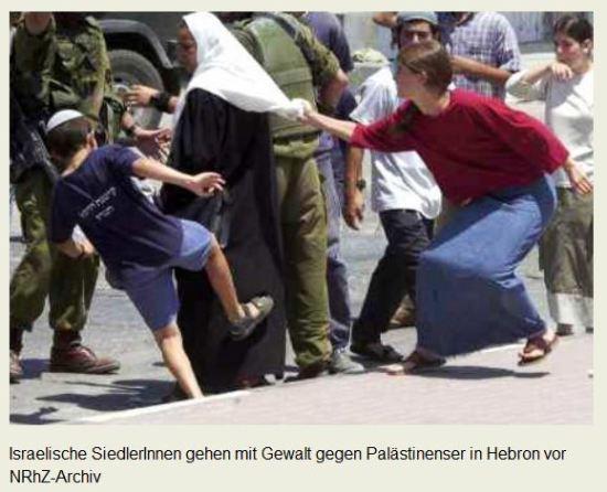 Araberhass Siedler gegen Palästinenser