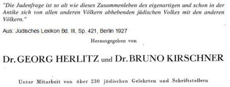 Jüdisches Lexikon Judenfrage