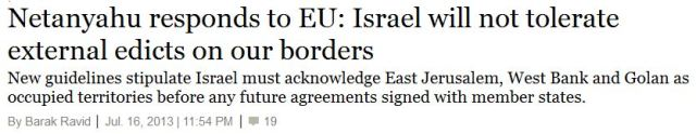 Netanjahu keine Zweistaatenlösung