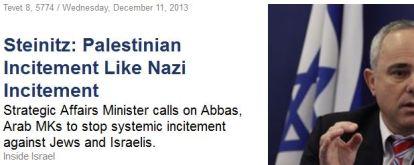 Palästinensische incitement Aufhetzung