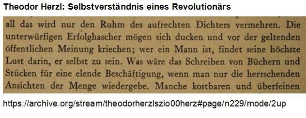 Herzl Selbstverständnis eines Revolutionärs