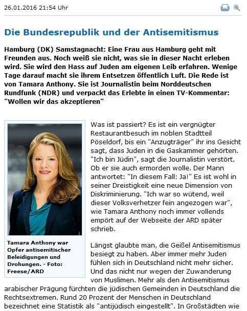 Antisemitismus in Deutschland NDR
