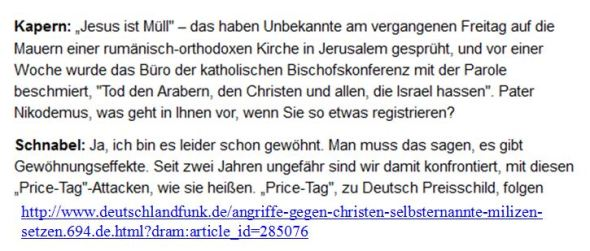 Christenhass Preisschild