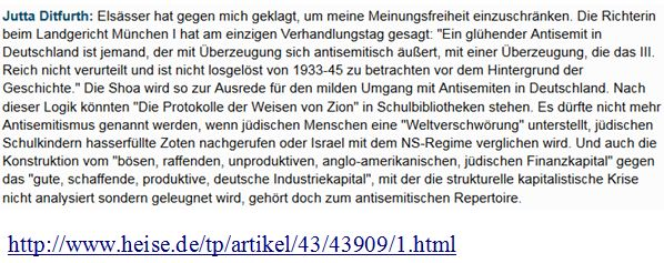 Ditfurth Antisemitismusbegriff