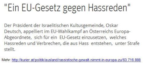 EU-Gesetz Hassreden Österreich