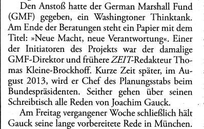 Gauck-Doktrin und DIE ZEIT