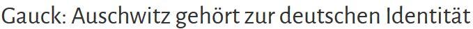 Gauck Kollektivschuld Identität