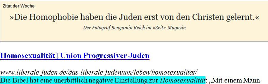 Homophobie und Judentum