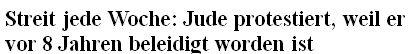Jude beleidigt Wochenmarkt