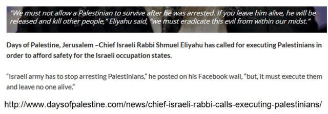 Rabbi Lösung des Intifada-Problems