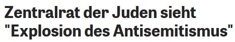 ZdJ Explosion des Antisemitismus